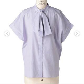 Drawer - ドゥロワー drawer コットンストライプシャツ 美品