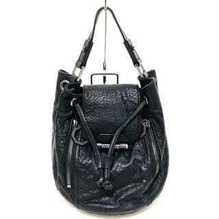 ディーゼル(DIESEL)のディーゼル ハンドバッグ - 黒 巾着型(ハンドバッグ)
