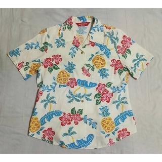 マンゴ(MANGO)のMANGO HOUSEアロハシャツハイビスカス開襟アロハシャツ洗濯可能(シャツ/ブラウス(半袖/袖なし))
