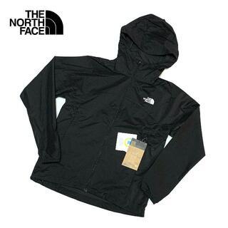 ザノースフェイス(THE NORTH FACE)の新品 Sサイズ ノースフェイス レディース スワローテイルフーディ ブラック(ナイロンジャケット)