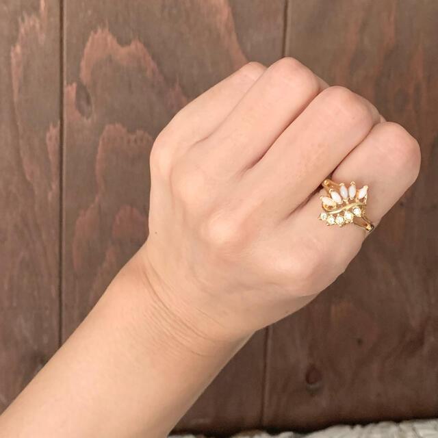 80'sUSA!Fauxオパール×ストーン!エレガントリング レディースのアクセサリー(リング(指輪))の商品写真
