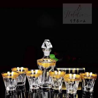 高級デカンタとグラスセット ウイスキーグラス ロックグラス 7点セット