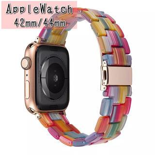 Apple Watch - AppleWatch レインボーベルト アップルウォッチ バンド42/44mm