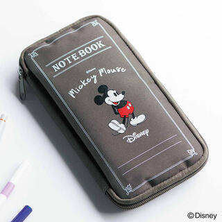 ミッキーマウス(ミッキーマウス)のSPRING 10月号 付録 ミッキーマウス クリアポーチ付き文具ケース(ポーチ)