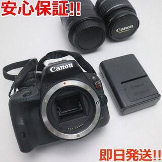 キヤノン(Canon)の美品 EOS Kiss X7 ダブルズームキット ブラック (デジタル一眼)