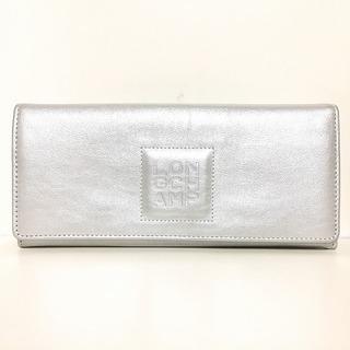 ロンシャン(LONGCHAMP)のロンシャン 長財布 - シルバー レザー(財布)