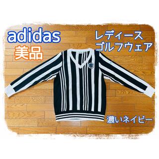 adidas - ★美品★adidas★レディース★ゴルフウェア★ニット★ネイビー★