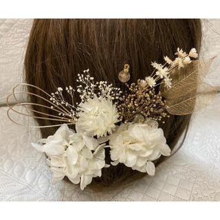 髪飾り 白金 R-25  ヘッドパーツ 結婚式 七五三 成人式 卒業式 前撮り