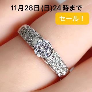 PT900 センターダイヤ 0.37 サイドダイヤ 0.23 リング