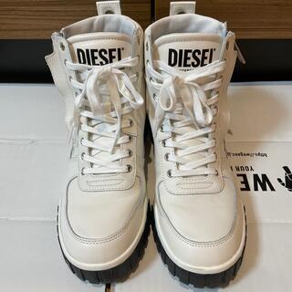 ディーゼル(DIESEL)のDIESEL ブーツ ホワイト 27cm 中古品(ブーツ)