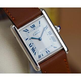 Cartier - 美品 カルティエ マスト タンク シルバー ブルーローマン LM Cartier