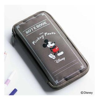 ミッキーマウス クリアポーチ付き文具ケース