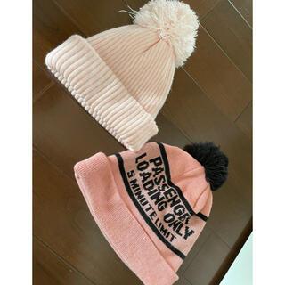 エルディーエス(LDS)のピンク ニット帽 ポンポン(ニット帽/ビーニー)