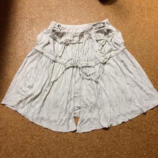 膝丈スカート 変形 ライトグレー(ひざ丈スカート)