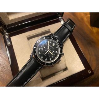 ゼニス(ZENITH)のゼニス ZENITH クロノメトロ 世界限定1000本  ブラック文字盤 腕時計(腕時計(アナログ))