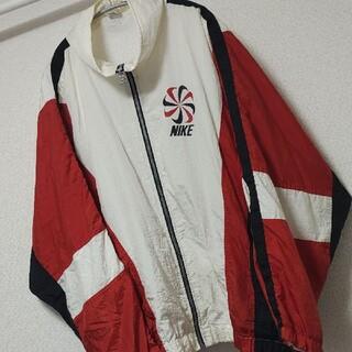 NIKE - 古着 90s ナイキ ナイロンジャケット 刺繍 風車 レトロ スウォッシュ