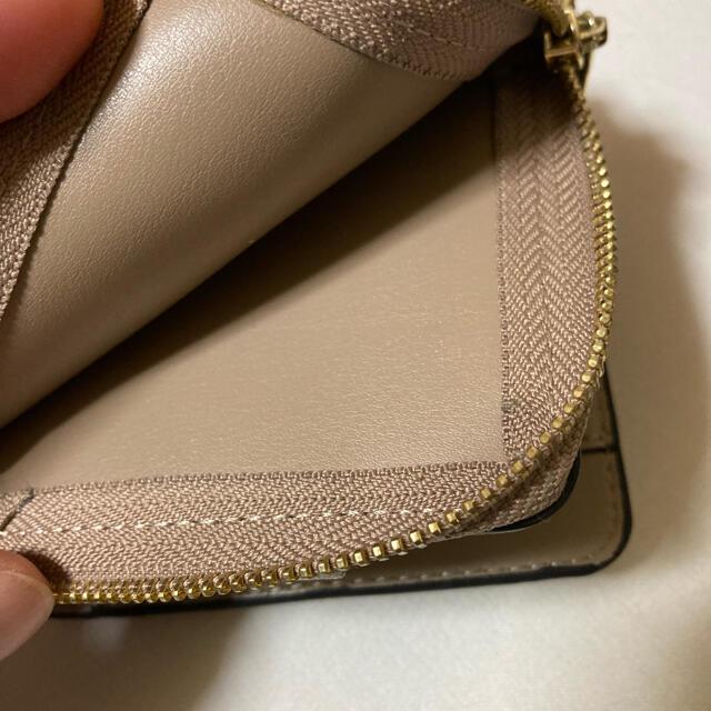 Legato Largo(レガートラルゴ)のレガートラルゴ 二つ折り財布 グレーベージュ コンパクト財布 レディースのファッション小物(財布)の商品写真