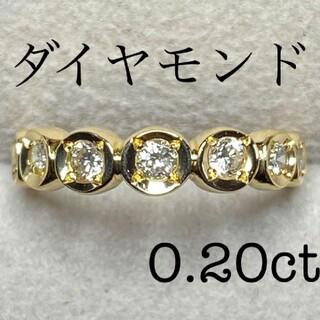 美品★k18ダイヤモンドリング
