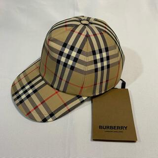 バーバリー(BURBERRY)のBURBERRY バーバリー ロゴアップリケヴィンテージチェックキャップ(キャップ)