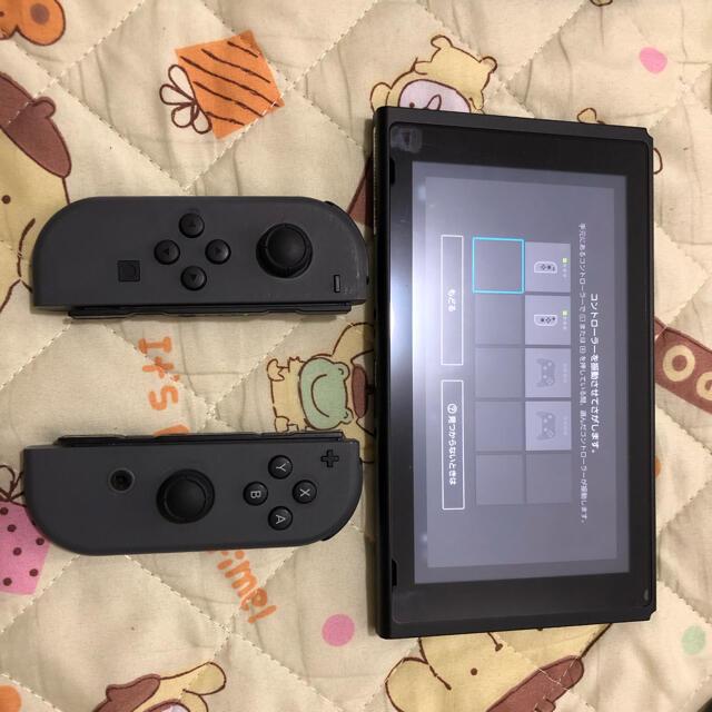 Nintendo Switch(ニンテンドースイッチ)のNintendo Switch 本体 Joy-Con(L)/(R) グレー エンタメ/ホビーのゲームソフト/ゲーム機本体(家庭用ゲーム機本体)の商品写真