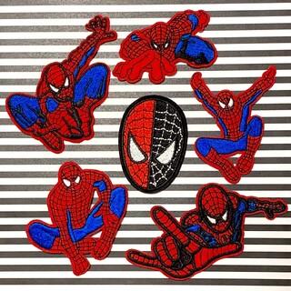 マーベル(MARVEL)の【アイロンワッペン 】スパイダーマン 6点セット マーベル marvel(各種パーツ)