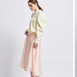 yori サテンギャザースカート 2021AW 今季 新作ボトムス 新品タグ付き