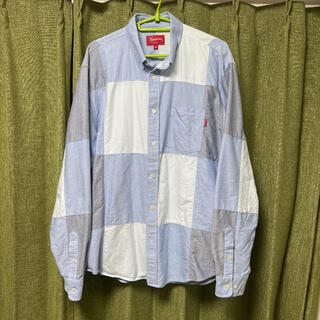 Supreme - 【M】supreme patchwork oxford shirt シャツ