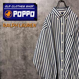 Ralph Lauren - ラルフローレン☆ワンポイント刺繍ロゴポケットボールドロンドンストライプシャツ
