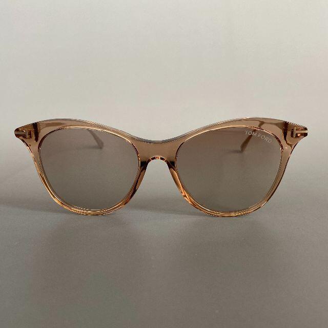 TOM FORD(トムフォード)のサングラス トムフォード ブラウン ゴールド ミラーレンズ フルリム スケルトン レディースのファッション小物(サングラス/メガネ)の商品写真