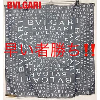 ブルガリ(BVLGARI)の【美品】BVLGARI ブルガリ スカーフ 総柄 ブランドロゴ ラグジュアリー(バンダナ/スカーフ)