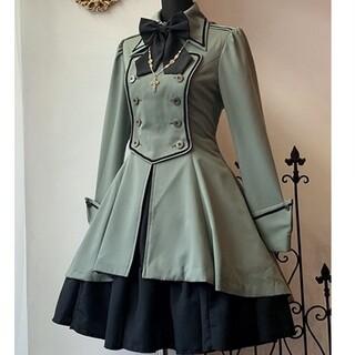 ATELIER BOZ - 軍服 ディーン ジャケット ワンピース 緑 グリーン ミリタリー ゴスロリ 黒