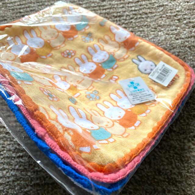 ミッフィー タオルハンカチ オレンジ1点 レディースのファッション小物(ハンカチ)の商品写真
