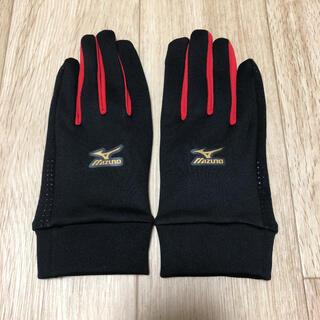 ミズノ(MIZUNO)のミズノプロ トレーニング手袋 / Mサイズ / ブラック×チャイニーズレッド(その他)