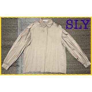 スライ(SLY)のSLY ギャザーブラウス(シャツ/ブラウス(長袖/七分))