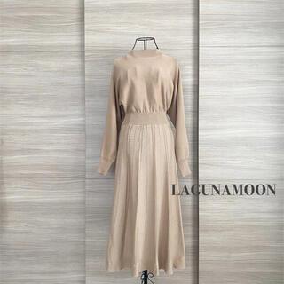 LagunaMoon - LAGUNAMOON ラグナムーン レースジャガードニットワンピース