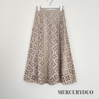 MERCURYDUO - MERCURYDUO マーキュリーデュオ フェイクスエードヒートカットスカート