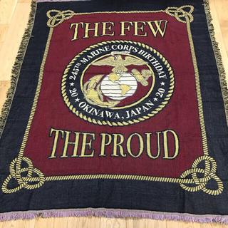 アメリカ 海兵隊 創設245周年記念品 ブランケット 米軍(その他)
