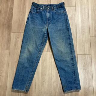 マーカウェア(MARKAWEAR)のmarkawear オーガニックセルビッチデニムストレート5ポケット size1(デニム/ジーンズ)