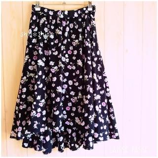 LAISSE PASSE - 《LAISSE PASSE》花柄 フラワープリント スカート