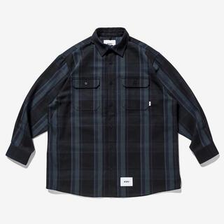 ダブルタップス(W)taps)の21AW WTAPS DECK LS ヘヴィーフランネルチェックシャツ(シャツ)