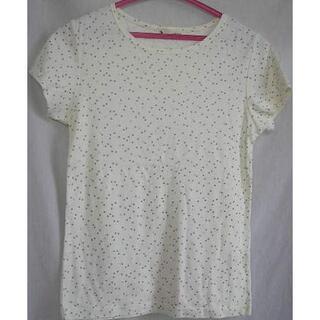 【Haple feel】水玉柄のTシャツ◆サイズ L
