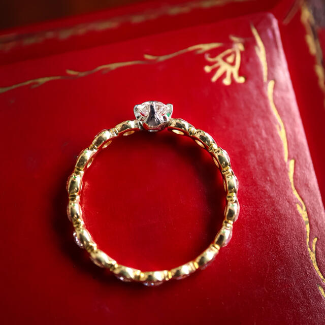 8角形ダイヤモンド ローズカットカットリング レディースのアクセサリー(リング(指輪))の商品写真