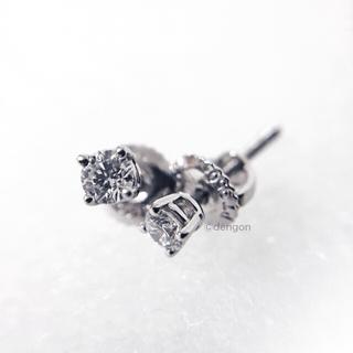 Tiffany & Co. - 【美品】ティファニー  ソリティア ダイヤ ピアス プラチナPT950