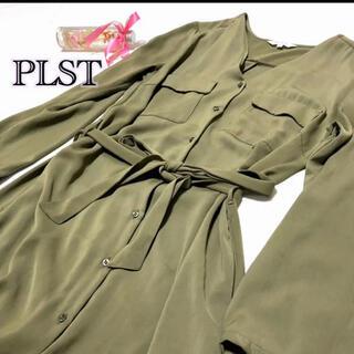 PLST - PLST(プラステ)ロング カーディガン シャツワンピース