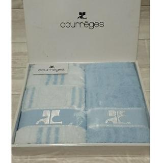 Courreges - クレージュ☆フェイスタオル2枚セット