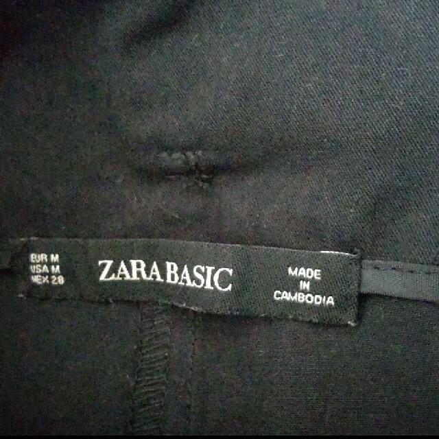 ZARA(ザラ)のZARA Basics(ザラベーシック)黒 ガウチョパンツ伸縮性のない生地 レディースのパンツ(カジュアルパンツ)の商品写真