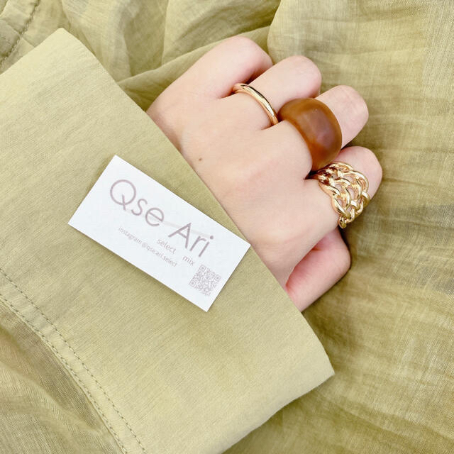KBF(ケービーエフ)の【マットカラー☺︎】マットブラウンリング デザインゴールドリング 細リング 3点 レディースのアクセサリー(リング(指輪))の商品写真