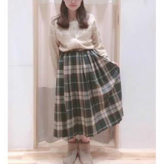 SM2 - サマンサモスモス チェック柄 プリーツ ロング スカート フリーサイズ