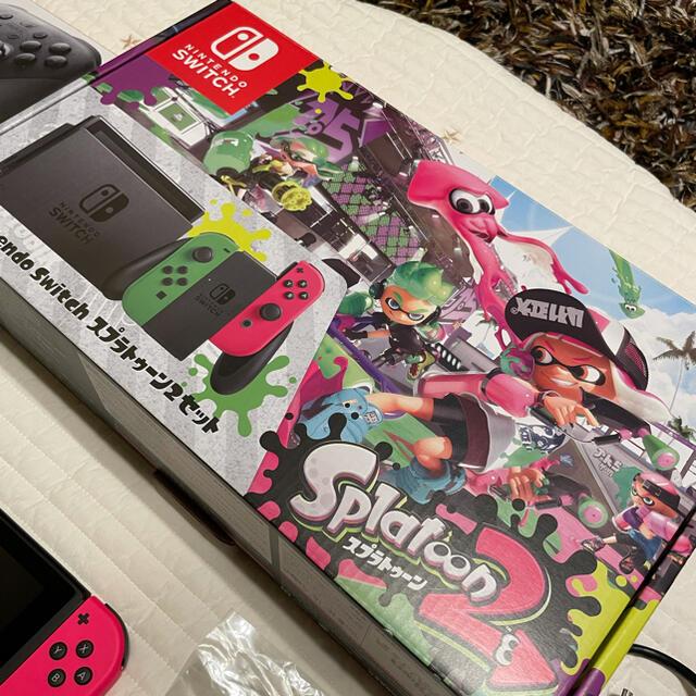 Nintendo Switch(ニンテンドースイッチ)のニンテンドースイッチ switch スプラトゥーン2セット プロコン ソフトあり エンタメ/ホビーのゲームソフト/ゲーム機本体(家庭用ゲームソフト)の商品写真