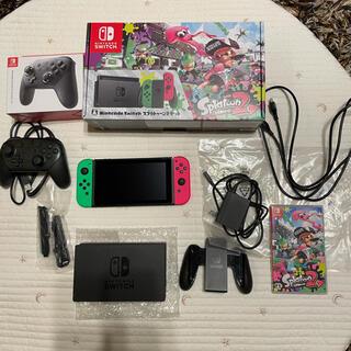 Nintendo Switch - ニンテンドースイッチ switch スプラトゥーン2セット プロコン ソフトあり